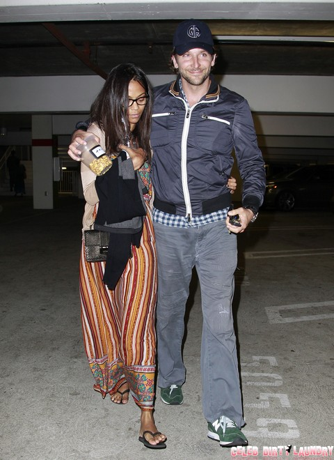 Bradley Cooper And Zoe Saldana NOT Getting Married - Are They Each Other's Beards? (Photos)