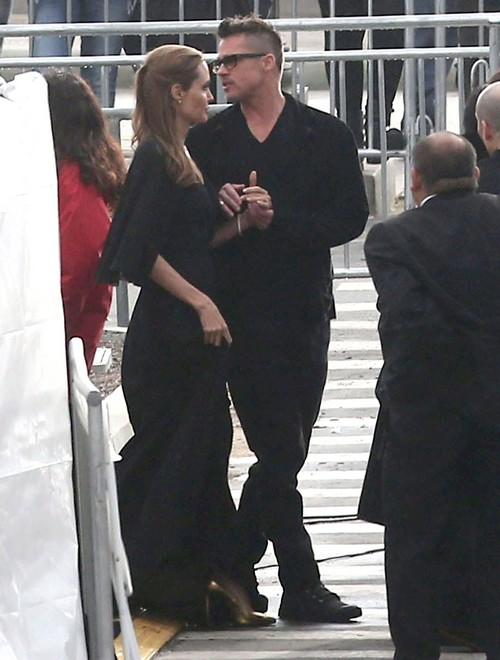 Brangelina Leaving The 2014 Film Independent Spirit Awards