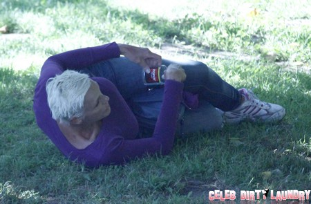 Brigitte Nielsen Drunk And Passing Out In A Public Park (Photos)