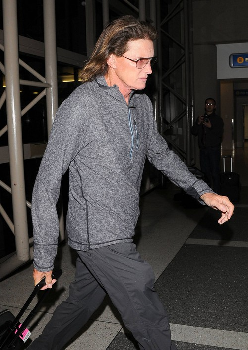 Bruce Jenner Spotted Wearing Long Dress and Smoking at Malibu Home: Photos Show Gender Transition Underway