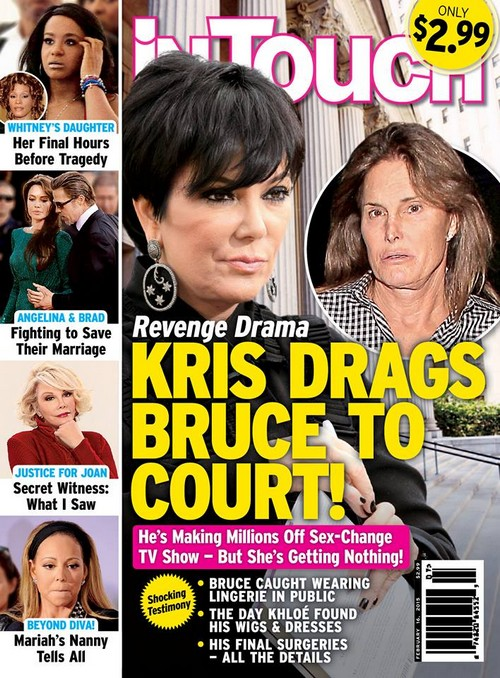 Kris Jenner Takes Bruce Jenner To Court To Stop Sex Change: Demands She Get Paid First! (PHOTO)