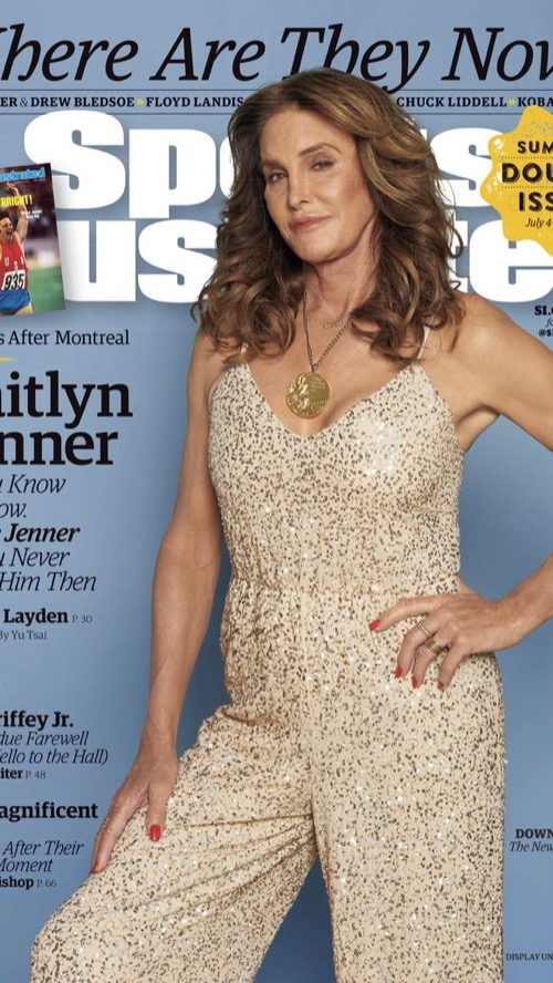 Caitlyn Jenner Wears Bruce's Olympic Medal on Sports Illustrated Cover - Draws Criticism