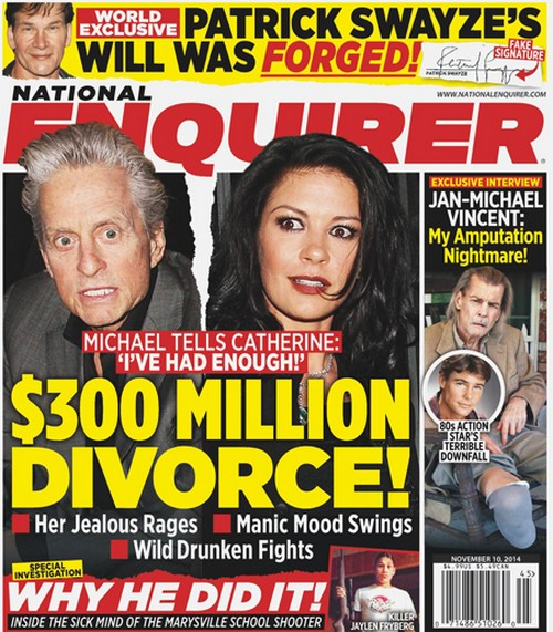 Michael Douglas, Catherine Zeta-Jones Divorce Battle: Facing $300 Million Split (PHOTO)