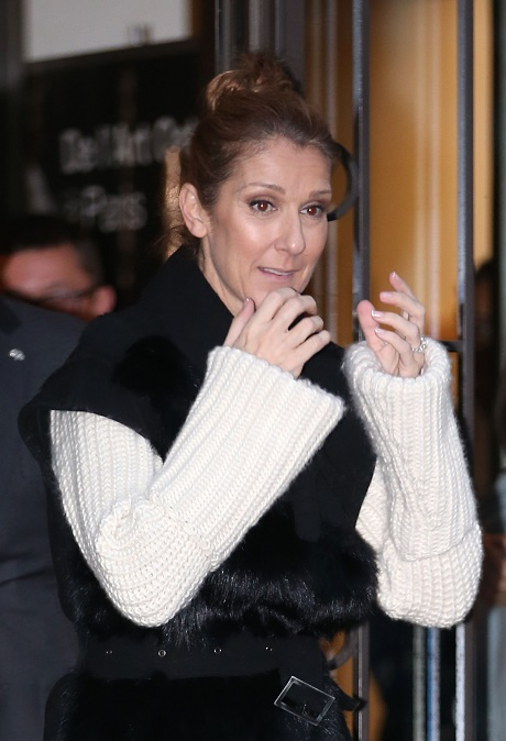 Celine Dion Leaving Her Paris Hotel