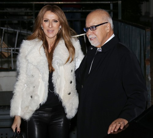 Celine Dion Rene Angelil Arriving At Vivement Dimanche Celeb