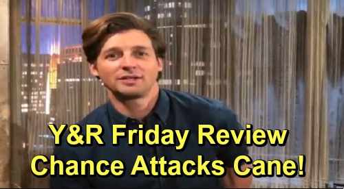 The Young and the Restless Spoilers: Friday, November 8 Review - Chance Returns, Attacks Cane - Theo's Dad Appears - Chelsea Worries Adam