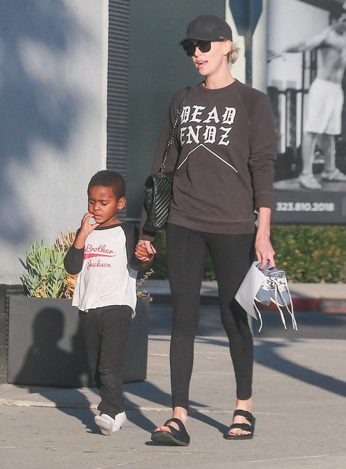 Charlize Theron Parenting Controversy Disciplines Son Jackson