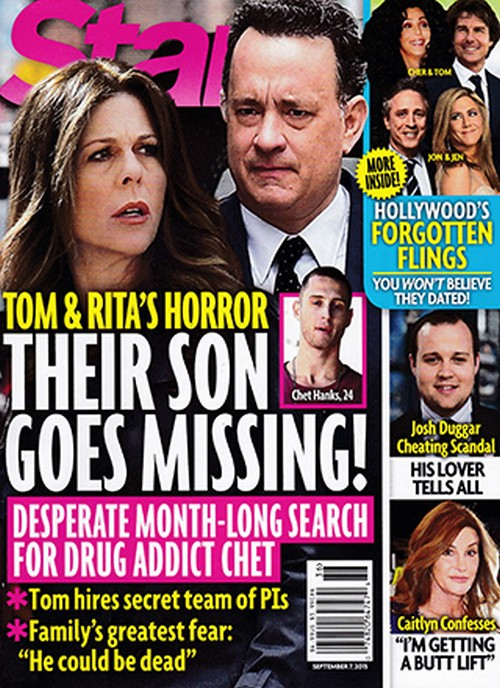 Tom Hanks and Rita Wilson Freaking Out Over Chet Haze Missing: Is Troubled Son in Drug Rehab?