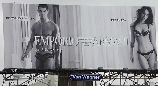 "New Megan Fox And Cristiano Ronaldo New Billboard ""A Traffic Stopper"""
