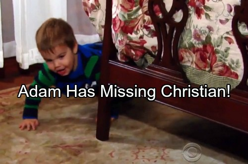 The Young and the Restless Spoilers: Adam Newman Finds Missing Christian – New Year Fireworks Begin