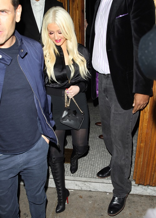 Christina Aguilera: Pouting Diva Spotted On Set Of New Film