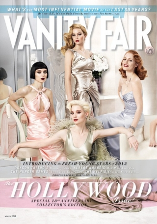 New 'Vanity Fair' Hollywood Issue Is Here: Features A Glamorous Jennifer Lawrence, Lily Collins, and Others (Photo)