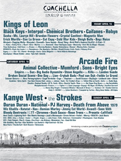 2011 Coachella Lineup Has Been Announced!