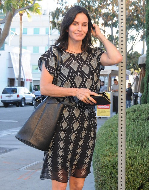 Courteney Cox Pregnant: Baby Bump, First Child With Johnny McDaid – Conceived Using IVF? (PHOTOS)