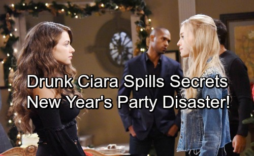 Days of Our Lives Spoilers: Drunk Ciara Loses It at New Year's Eve Party – Secrets and Confessions Cause Chaos