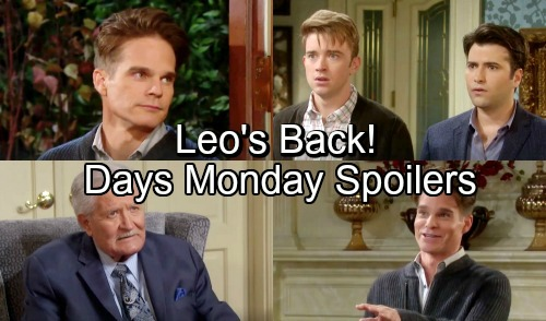 Days of Our Lives Spoilers: Monday, November 26 – Leo's Return Shocks Will and Sonny – Eric's Life-changing Choice – Ben Warns Claire
