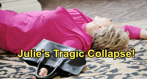 Days of Our Lives Spoilers: Julie Collapses Suddenly - Doug Faces Horrible News - Eli and Lani Panic