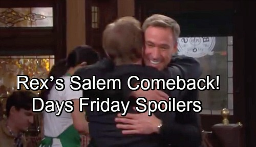 Days of Our Lives Spoilers: Friday, October 19 – Nicole Makes an Escape – Sami Blasts Brady – Rex's Salem Comeback