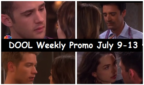 Days of Our Lives Spoilers: Sizzling Promo for Week of July 9-13 – Hot Love Triangles and Reunions – Salem's Steamiest Pairings