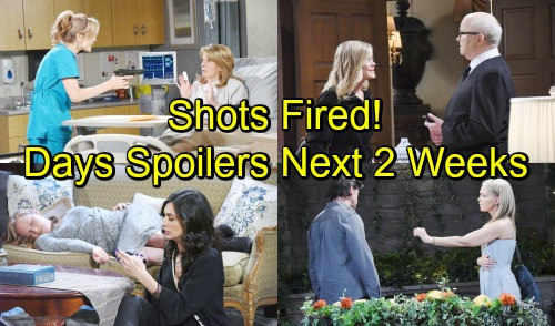 Days of Our Lives Spoilers Next 2 Weeks: Shots Fired - Sami's Shocking EJ Deal – Kristen Pushes Brady to Run Away Together