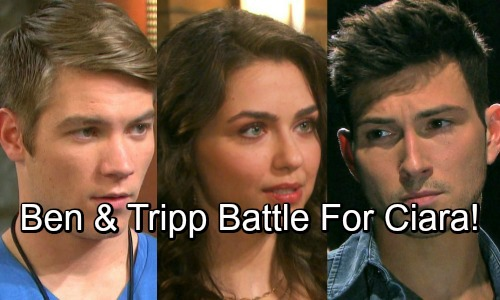 Days of Our Lives Spoilers: Ben and Tripp Battle For Ciara's Heart - Intense Love Triangle Revs Up