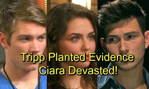 Days of Our Lives Spoilers: Ciara Devastated By Tripp's Betrayal - Tripp Planted Evidence Against Ben