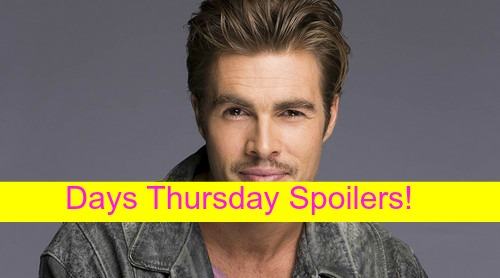 Days of Our Lives (DOOL) Spoilers: Fynn Thompson Debuts, Meets Nicole – Theresa Presses Brady for More Loving