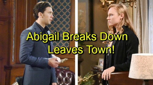 Days of Our Lives Spoilers: Abigail Leaves Town After Confession Panic Attack – Chad Lets Go of True Love with Memorial