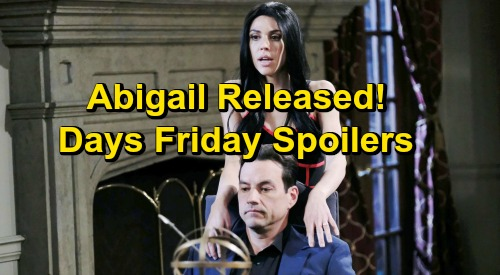 Days of Our Lives Spoilers: Friday, December 7 – Abigail Released from Bayview – Stefan Framed – Rafe Faces a Shocker