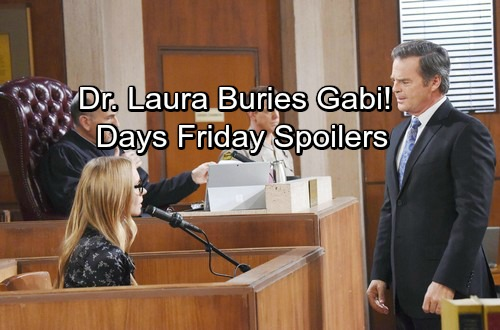 Days of Our Lives Spoilers: Friday, March 30 – 'Dr. Laura' Stuns the Courtroom – Chad and Stefan Come To Blows
