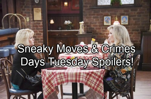 Days of Our Lives Spoilers: Tuesday, Aug 8 - Nicole's Sneaky Move – John Faces Crushing Blow – Anjelica Plots Adrienne's Downfall