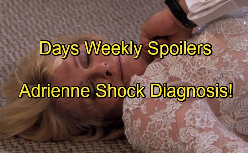 Days of Our Lives Spoilers: Week of Nov. 28 - Adrienne Picks Husband, Collapses and Rushed to Hospital - Kayla Diagnosis Cancer