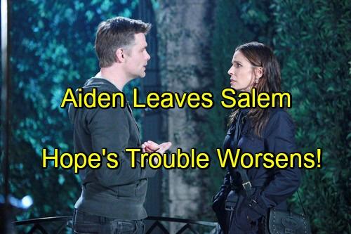 Days of Our Lives Spoilers: Aiden Leaves Salem, Hope Relieved - Andre Reveals Stefano Murder Secret, Destroys Hope