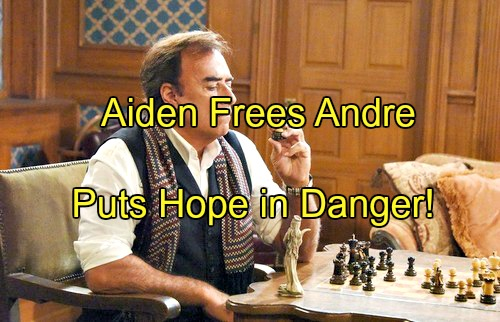 Days of Our Lives (DOOL) Spoilers: Aiden and Andre Make a Deal – Andre Released from Jail, Puts Hope in Danger