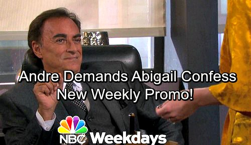Days of Our Lives Spoilers: Andre Pushes Gabby For Full Confession, Stefan Struggles to Stop Her