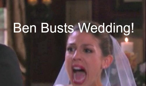 Days of Our Lives (DOOL) Spoilers: Wedding Day Shocker, Abigail Shrieks in Horror – Crazy Ben Busts Marriage