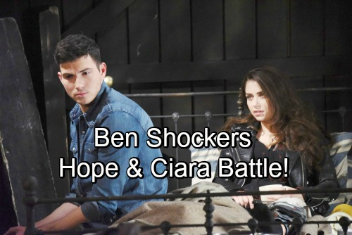 Days of Our Lives Spoilers: Ciara Defends Ben to Hope, Insists He Saved Her Life – Mama Bear Battles 'Cin'