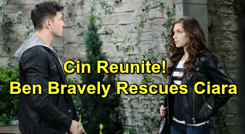 Days of Our Lives Spoilers: Cin Reunite After Ben Saves Ciara's Life Again - Gunfire At DiMera Mansion Rescues Romance