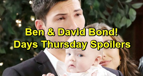 Days of Our Lives Spoilers: Thursday, April 11 – Claire's Cabin Fire Confession – Ben and Baby David Bond