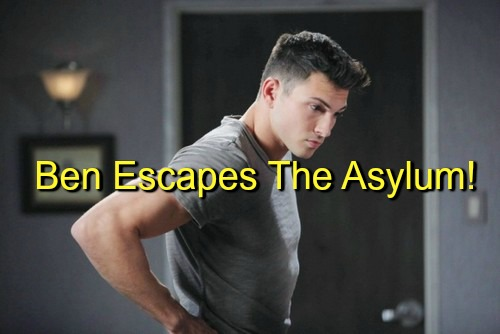 Days of Our Lives (DOOL) Spoilers: Ben Escapes from Psychiatric Hospital – Chad Terrified for Thomas and Abigail's Safety