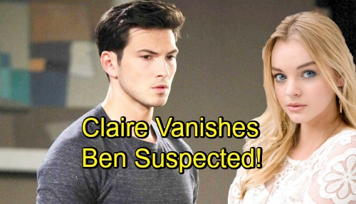 Days of Our Lives Spoilers: Claire Suddenly Goes Missing - Ben Suspected In Her Disappearance