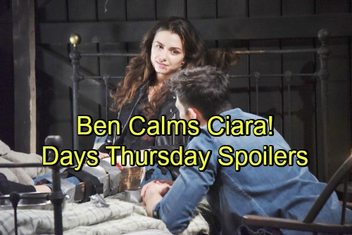 Days of Our Lives Spoilers: Thursday, June 14 – Ben Reassures Panicked Ciara – Tripp and Hope Start Search – Eve's Desperate Move
