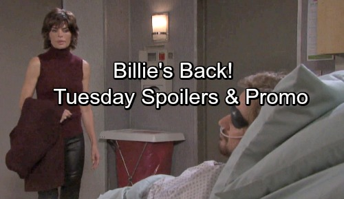 Days of Our Lives Spoilers: Tuesday, February 13 – Billie Returns – Rafe and Eli Spill Secrets – Steve's Brush With Death