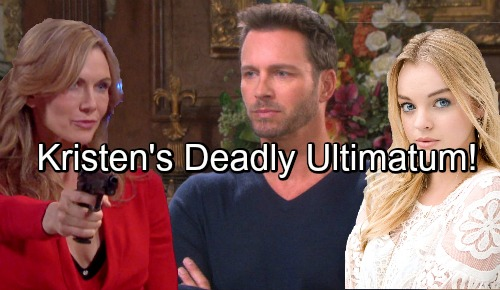 Days of Our Lives Spoilers: Kristen Issues Deadly Ultimatum to Brady - Threatens Claire's Life