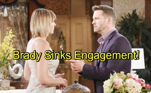 Days of Our Lives Spoilers: Guilty Brady Puts Eric and Jennifer's Engagement in Jeopardy – Considers Coming Clean About Nicole