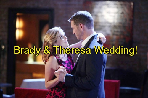 Days of Our Lives (DOOL) Spoilers: Theresa Fears Crazy Summer, Pushes Brady for Quickie Wedding – Summer Moves on to Justin