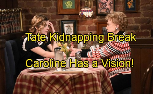 'Days of Our Lives' Spoilers: New Break in Tate's Kidnapping Case, Caroline Has a Vision