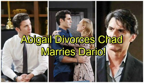 Days of Our Lives Spoilers: Chad and Abigail Divorce – Abigail Agrees to Marry Dario, Feelings Grow