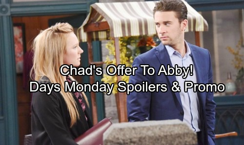 Days of Our Lives Spoilers: Monday, Nov 6 - Chad's Offer for Abigail – Paul's Risky Choice – Tripp's Shocking Discovery