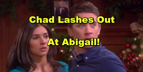 'Days of Our Lives' Spoilers: Chad Discovers Abigail Saying Goodbye to Thomas – Lashes Out At Abby In Rage